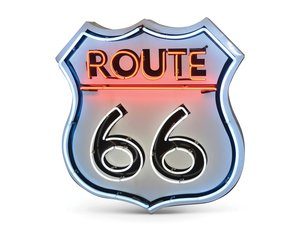Route 66 New Neon Metal Sign For Sale by Auction