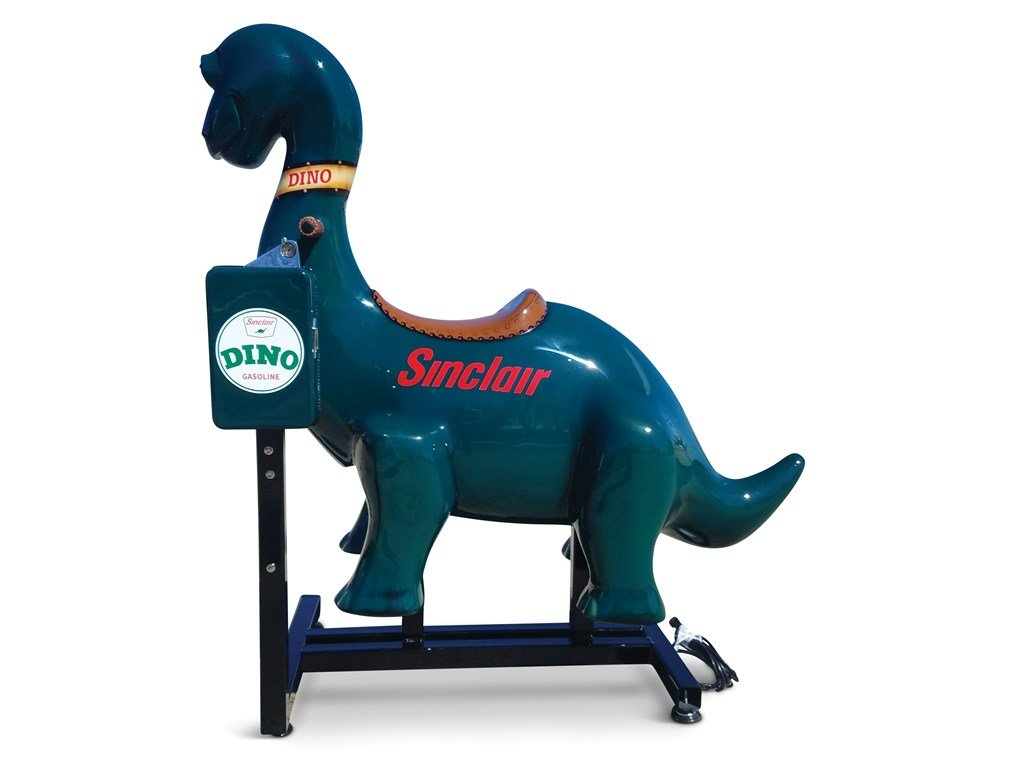 Coin Operated Sinclair Dino Kiddie Ride For Sale by Auction (picture 1 of 3)