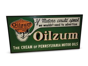 """Fantasy """"Oilzum Motor Oils and Lubricants"""" Sign For Sale by Auction"""