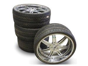Four 22 Asanti Wheels For Sale by Auction