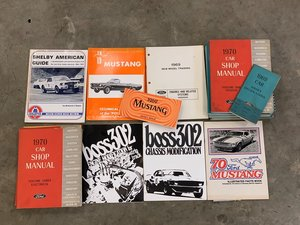 Ford Literature including shop manuals and Boss 302 Modifica For Sale by Auction