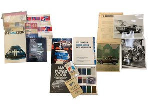Assortment of AMC literature including Trans-Am press kit, s For Sale by Auction