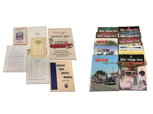 Assorted Hudson manuals, service information, and club publi For Sale by Auction