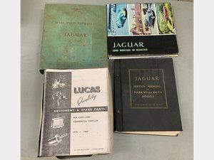 Jaguar service books, Lucas parts catalogue, and club litera For Sale by Auction