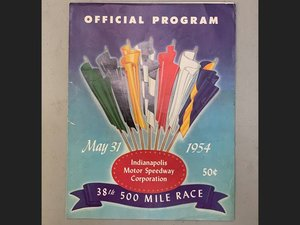 1954 Indy 500 Awards Banquet Program with Signatures For Sale by Auction