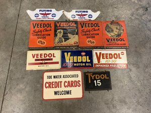A Selection of Tide Water Oil Advertising including Veedol L For Sale by Auction
