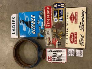 Collectible Signs and Petroliana Lot For Sale by Auction