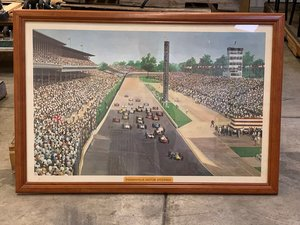 Indianapolis Motor Speedway Framed Photo For Sale by Auction