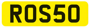 Registration Number ROS50 12 Sep 2019 For Sale by Auction