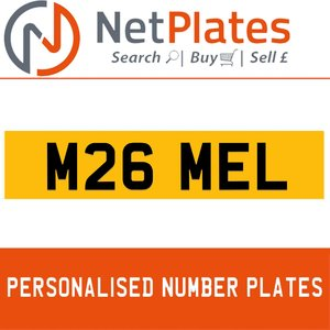 M26 MEL PERSONALISED PRIVATE CHERISHED DVLA NUMBER PLATE For Sale