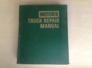 Motors Truck Repair Manual 23rd edition 1970  For Sale