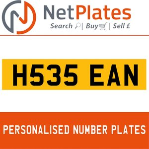 H535 EAN PERSONALISED PRIVATE CHERISHED DVLA NUMBER PLATE For Sale