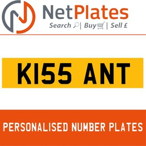 K155 ANT PERSONALISED PRIVATE CHERISHED DVLA NUMBER PLATE For Sale