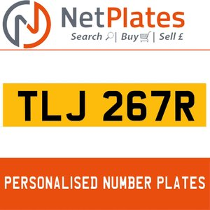 TLJ 267R PERSONALISED PRIVATE CHERISHED DVLA NUMBER PLATE For Sale