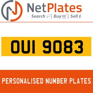 OUI 9083 PERSONALISED PRIVATE CHERISHED DVLA NUMBER PLATE For Sale