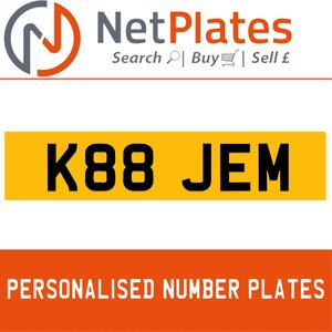 K88 JEM PERSONALISED PRIVATE CHERISHED DVLA NUMBER PLATE For Sale