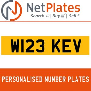 W123 KEV PERSONALISED PRIVATE CHERISHED DVLA NUMBER PLATE For Sale