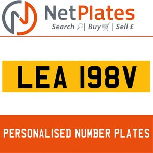 LEA 198V PERSONALISED PRIVATE CHERISHED DVLA NUMBER PLATE For Sale