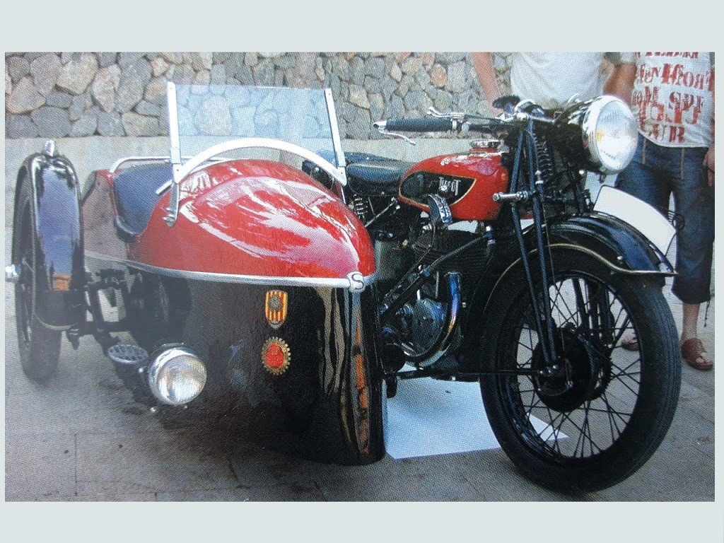 1935 Terrot 500cc. w/ sidecar - original with 2 exhaust For Sale (picture 1 of 1)