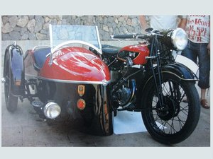 1935 Terrot 500cc. w/ sidecar - original with 2 exhaust For Sale