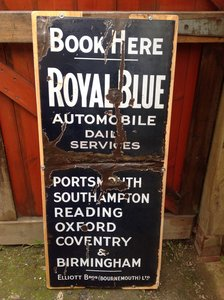 Royal Blue Coaches Enamel Sign