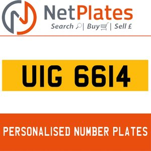 UIG 6614 PERSONALISED PRIVATE CHERISHED DVLA NUMBER PLATE For Sale