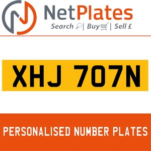 XJN 707N PERSONALISED PRIVATE CHERISHED DVLA NUMBER PLATE For Sale