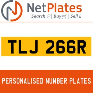 TLJ 266R PERSONALISED PRIVATE CHERISHED DVLA NUMBER PLATE For Sale