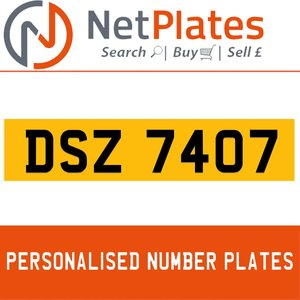 DSZ 7407 PERSONALISED PRIVATE CHERISHED DVLA NUMBER PLATE For Sale