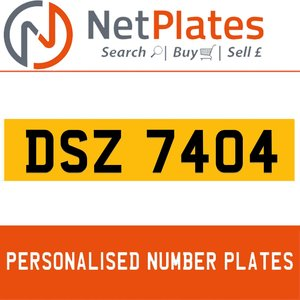 DSZ 7404 PERSONALISED PRIVATE CHERISHED DVLA NUMBER PLATE For Sale