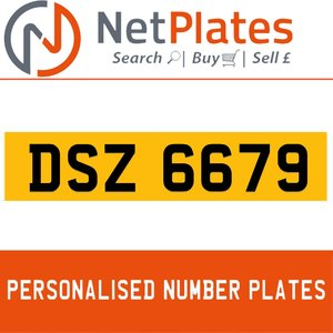 DSZ 6679 PERSONALISED PRIVATE CHERISHED DVLA NUMBER PLATE For Sale