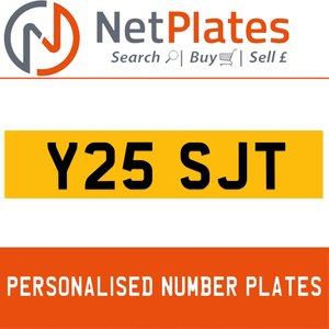 Y25 SJT PERSONALISED PRIVATE CHERISHED DVLA NUMBER PLATE For Sale