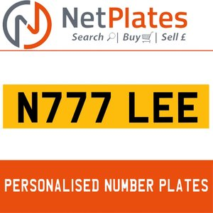 N777 LEE PERSONALISED PRIVATE CHERISHED DVLA NUMBER PLATE For Sale