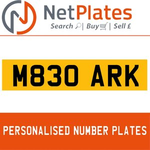 M380 ARK PERSONALISED PRIVATE CHERISHED DVLA NUMBER PLATE For Sale