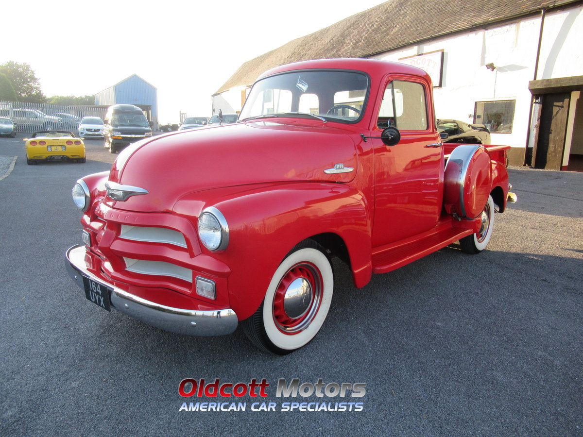 1954 chevrolet 3100 6 cyl auto stepside pickup For Sale (picture 1 of 6)