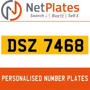 DSZ 7468 PERSONALISED PRIVATE CHERISHED DVLA NUMBER PLATE For Sale