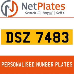 DSZ 7483 PERSONALISED PRIVATE CHERISHED DVLA NUMBER PLATE For Sale