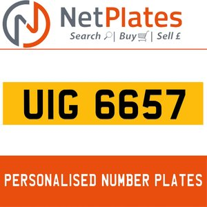 UIG 6657 PERSONALISED PRIVATE CHERISHED DVLA NUMBER PLATE For Sale