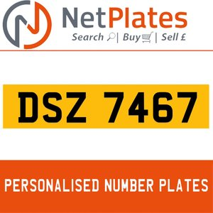 DSZ 7467 PERSONALISED PRIVATE CHERISHED DVLA NUMBER PLATE For Sale