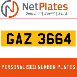 GAZ 3664 PERSONALISED PRIVATE CHERISHED DVLA NUMBER PLATE For Sale