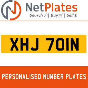 XHJ 701N PERSONALISED PRIVATE CHERISHED DVLA NUMBER PLATE For Sale