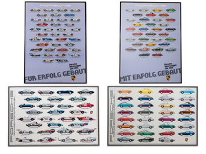 Porsche Race Car and Street Car Evolution Framed Posters For Sale by Auction
