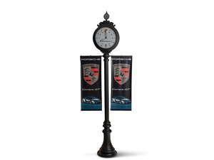 Porsche Carrera GT Standing Clock with Display Banners For Sale by Auction