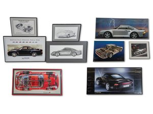 Porsche 959 Framed Posters, Print, and Drawing For Sale by Auction