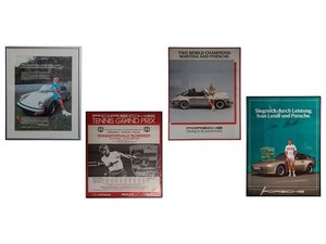 Porsche Tennis-Themed Framed Posters and Advertisement For Sale by Auction