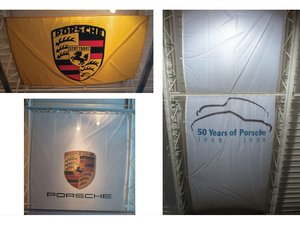 50 Years of Porsche and Porsche Crest Dealership Banners For Sale by Auction