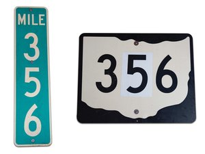 Pair of 356 Road Signs For Sale by Auction