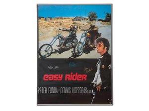 Easy Rider Poster Signed by Peter Fonda, Dennis Hopper, and  For Sale by Auction