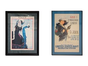 Vintage Framed Advertising For Sale by Auction