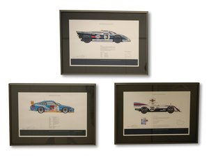 Porsche Race Car Signed Prints by Jeff Stapleton For Sale by Auction